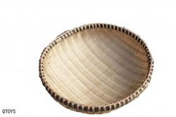 Qtoys Round Bamboo basket – 25 cm