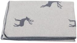 Grey Reindeer Allover Silvreta Throw