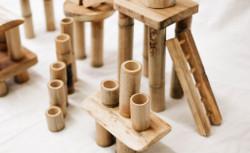Qtoys Bamboo Building Set