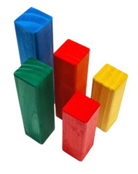 Rainbow Large Stepped Pyramid Block Set