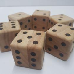 Wooden Dice set of 6
