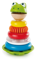 hape frog stacking rings toy