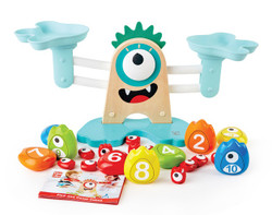 hape monster math scale toy