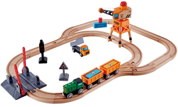 hape crossing and crain railway set
