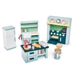 Tender Leaf Toys Dovetail Kitchen Wooden Furniture Set for Dolls House