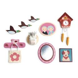 Tender Leaf Toys Doll House Wall Decor Set