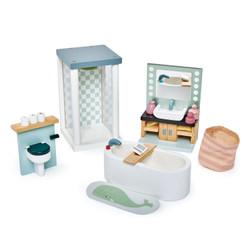 Tender Leaf Toys Dovetail Bathroom Wooden Furniture Set for Dolls House