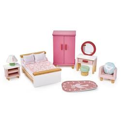 Tender Leaf Toys Dovetail Bedroom Wooden Furniture Set for Dolls House