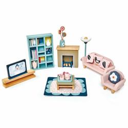Tender Leaf Toys Dovetail Sitting Room Wooden Furniture Set for Dolls House