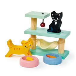 Tender Leaf Toys Wooden Pet Cats Play Accessories for Dolls House