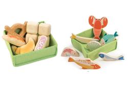 tenderleaf fish basket and bread basket crates