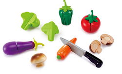 Hape Garden Vegetables pretend play food vegetables with velcro