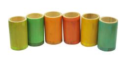 Qtoys Rainbow Bamboo sorting tubes set of 6