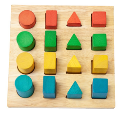 Qtoys Shapes & Size Puzzle Board