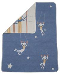 Blue Circus Monkeys Juwel Bassinet Blanket