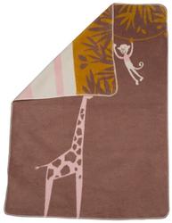 Brown Giraffe Maja Bassinet Blanket