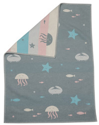 Light Green Under Sea Lena Bassinet Blanket
