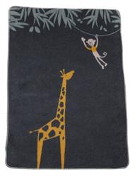 David Fussenegger Charcoal Giraffe Maja Bassinet Blanket