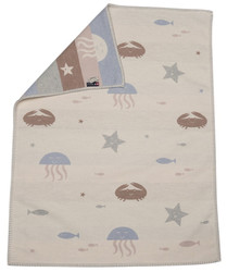 White Under The Sea Lena Bassinet Blanket