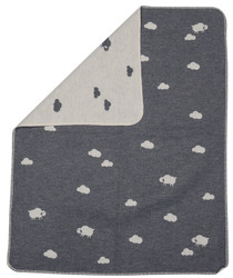 David Fussenegger Grey Sheep Bassinet Blanket In Wolf Puppet