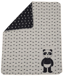 David Fussenegger Off White Panda Bear Juwel Bassinet Blanket