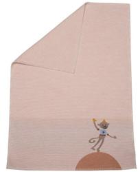 David Fussenegger Rose Monkey Embroidered Lena Bassinet Blanket