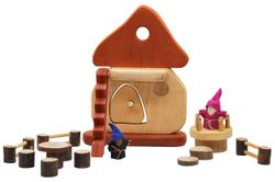 toy smurfs house