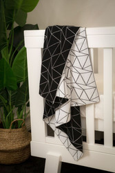 David Fussenegger Black & White Galaxy Blanket