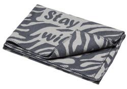 David Fussenegger Grey Stay Wild Finn Cot Blanket