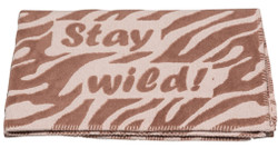 David Fussenegger Brown Stay Wild Finn Cot Blanket