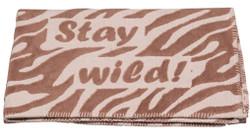 David Fussenegger Brown Stay Wild Finn Cot Blanket