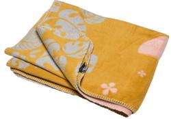 David Fussenegger Mustard Toucan In Jungle Cot Blanket