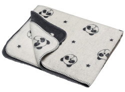 David Fussenegger Off White Allover Panda Cot Blanket