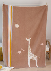 David Fussenegger Brown Giraffe Cot