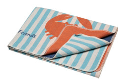 David Fussenegger Jade Crab & Stripes Juwel Cot Blanket