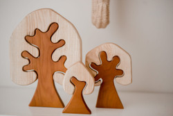 Qtoys Two Toned Wooden Trees 3