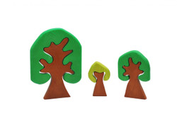 Qtoys Coloured Wooden Trees