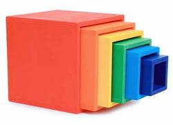HELO Large Wooden Rainbow Stacking Box Set