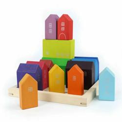 Small Wooden Rainbow House