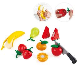Hape wooden toy fruit set with knife