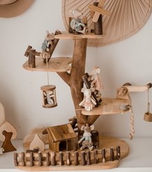 adventure tree house toy with maileg dolls (dolls not included)