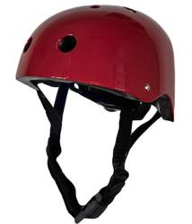 Vintage Red CoConut Helmet - Small