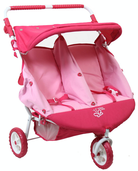 Twin Dolls Pram - Mini Marathon Pink
