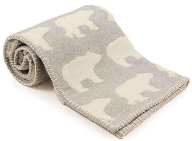 david fussenegger grey polar bear blanket
