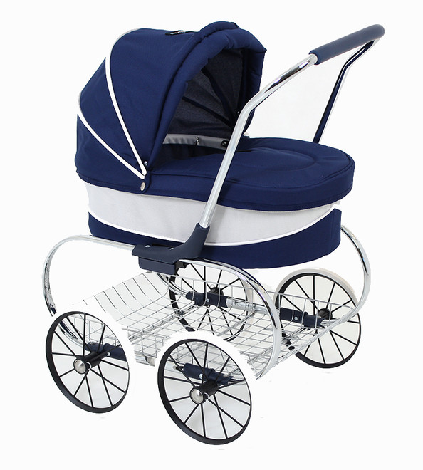 valco princess doll pram navy