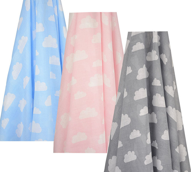 clouds all over muslin wraps by emotion and kids