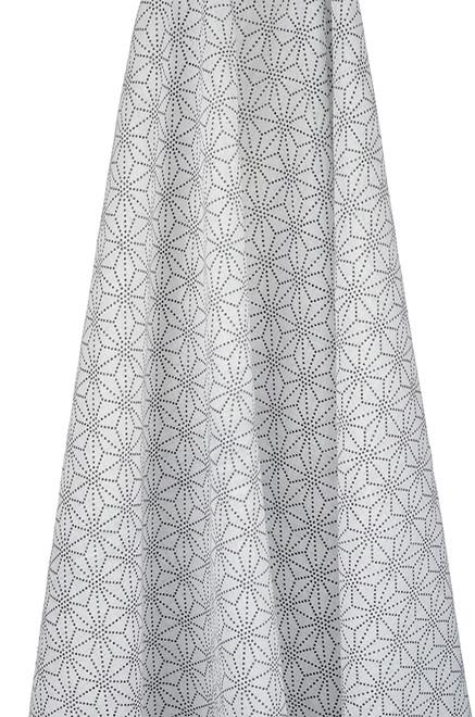 geometrical muslin wrap design