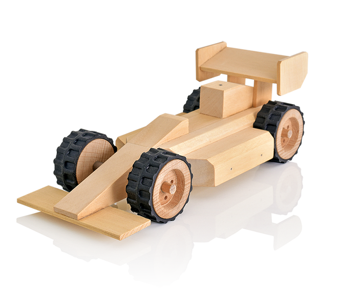 build me racing car wood work toy kit