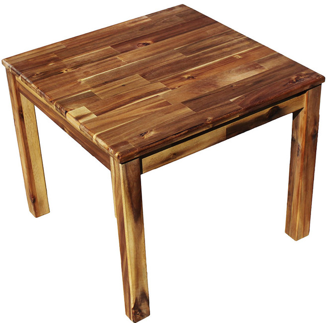 qtoys square acacia table