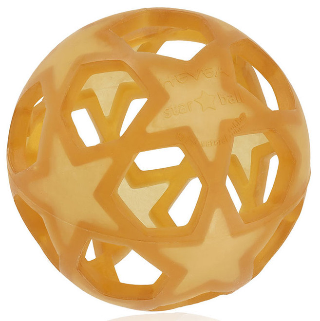 Hevea Rubber Star Ball - Natural